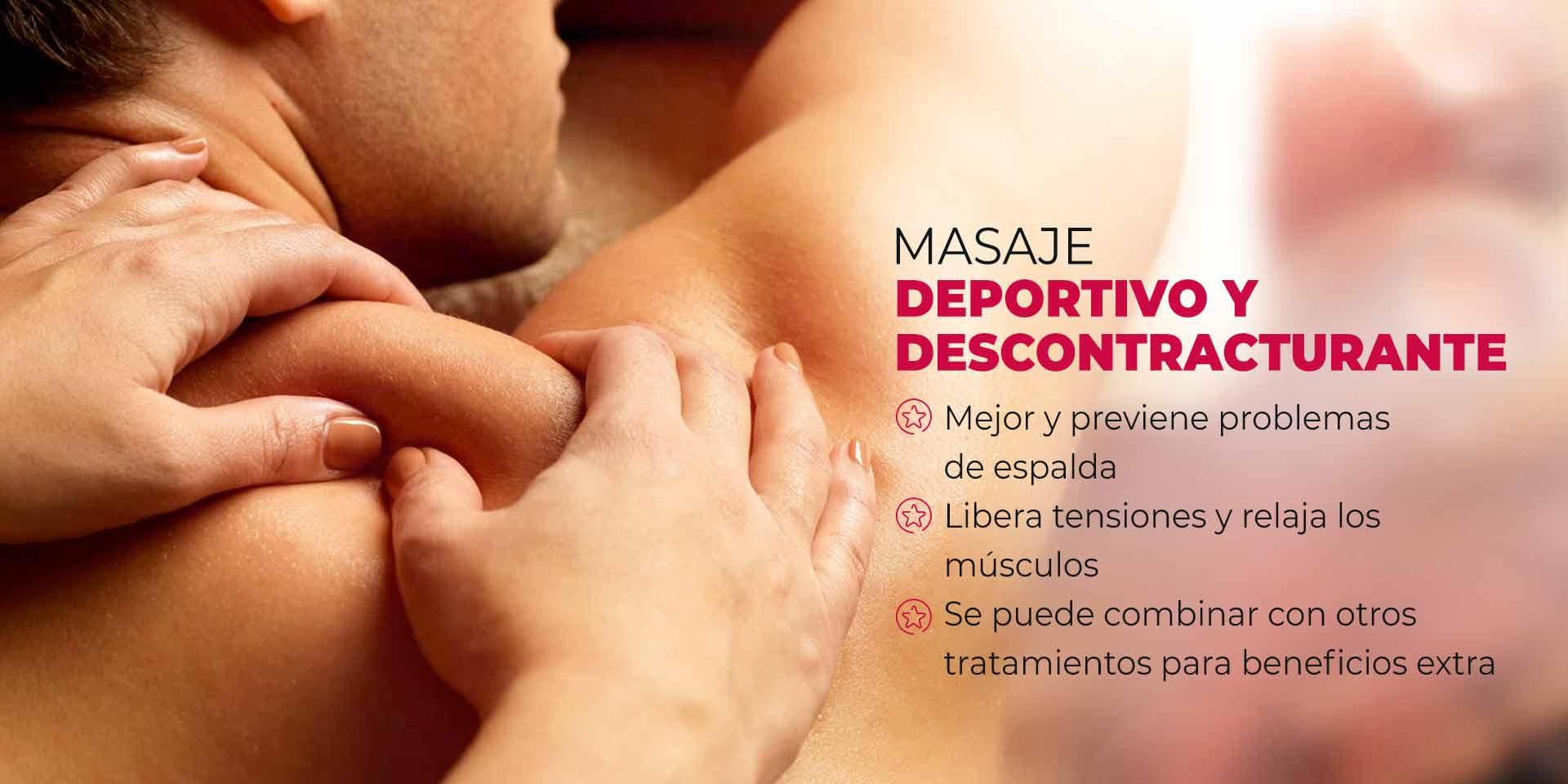 masaje deportivo y descontracturante en CDMX