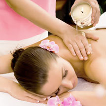 masaje con vela